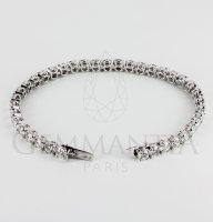 Bracelet souple diamants ronds